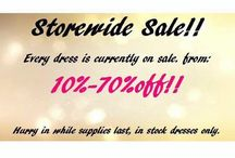 Storewide Sale!! / Every dress in store is currently on sale from 10%-70% off! Hurry in while supplies last, instock only! 519-360-1100