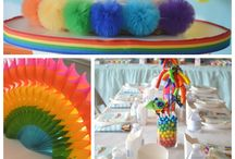Rainbow party / Emilie's 5th birthday party - care bear rainbow party
