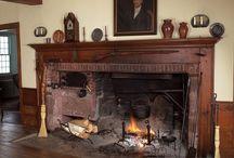 New England fireplace