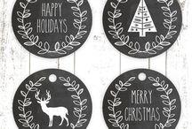 Printable tags Christmas