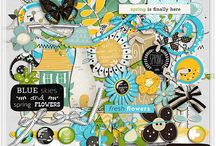 Blue Skies and Spring Flowers / http://scraporchard.com/market/Blue-Skies-Spring-Flowers-Digital-Scrapbook-Kit.html