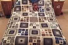 hačkované deky a prikrývky