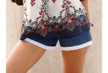 Šortky / Šortky jsou na léto jako dělané! Milovnice pohodlí to jistě potvrdí. Navíc je můžete pokaždé zkombinovat s jinými kousky a pokaždé tak vytvořit originální outfit.