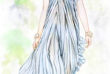 fashion sketches & illustrations / silhouette, fashion design sketches & illustrations , drawings