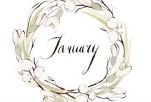January and the year ahead! / Setting all those New Year plans into motion? Here are some inspirations!