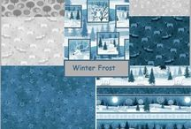 Winter Frost Fabric By Jan Shade Beach