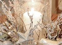 Kerststuk met windlicht