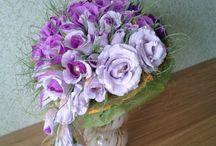 kwiaty i bukiety z krepiny