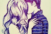 Couple drawings