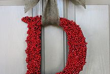 holly berries on letter