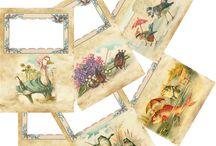 quaderni d'epoca / quaderni con immagini d'epoca, interno stampato per impressione con caratteri a mano