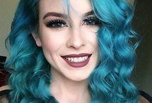 Makeup Inspiration For Turquoise Hair / Makeup For Turquoise Hair  Arctic Fox Aquamarine  Manic Panic Atomic Turquoise