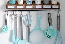 apartment - kitchen / by Melanie Yabbadabba