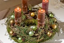 Natural Advent Decoration / Natural | Woodland | Green | Wedding | Foraged | Candles | Moss | Bark | Advent |