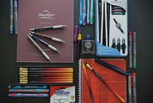 Back to School Supplies / Back to school pens, pencils, and notebooks