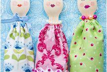 Wooden spoon dolls
