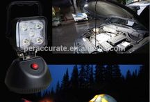 Magnetic Portable Rechargeable LED High Beam Halogen 3 Stages Switchable WaterProof