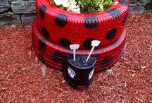 Jardim de pneus