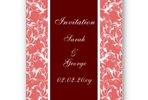 Red Wedding Invitations and Stationery / Lovely Red wedding invitations, Red save the date, Red stationery, #Red #Redwedding #weddings #invitations #savethedate