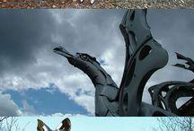 striking sculptures
