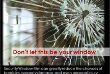 Safety and Security Window Film / Window film offers a thin layer to your windows, but with amazing strength.  Safety and Security for your peace of mind while protecting your investment. #business #residential