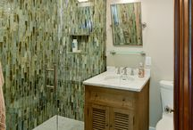 """Family Bathrooms / Most homes today feature a family bath along with a half bath/powder room for the """"public"""" to use. We've now given master baths their own Pinterest board. / by Feinmann, Inc. Design Build"""