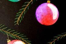 Joulumaalauksia