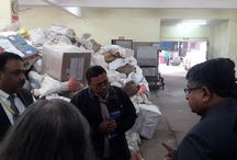 Surprise Visit to Rail Mail Service Center / Made a surprise visit to Rail Mail Service center today. I was not very happy to see the cleanliness of the place. Gave strict directions to officers to maintain high level of cleanliness in office.