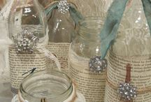 Decorated jam jars