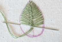 Embroidery - plants, trees and flowers