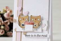 """Stamp:I'm Owl Yours / Handmade cards featuring the stamp set """"I'm Owl Yours"""" by My Favorite Things."""