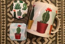 Desert Blooms & El Succuléntes (Cactus) / Funky Cactus Design Collection of Accessories and Giftware including Manicure Set, Mugs, Cool Bag, Pens, Candles or Tic Tac Purse. #beauty #accessories #candle #giftideas #homedecor #Cactus