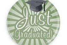 Graduation Buttons / Funny Buttons - Custom Buttons - Promotional Badges - Graduation Pins - Wacky Buttons