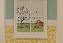 window frame scenes cards