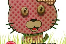 Wafer Candy Cat / Get your FREE paper Candy Cat!  LIKE us here and send us a message! http://bit.ly/candycat