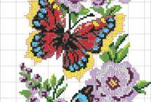výšivka - hmyz,motýli aj.