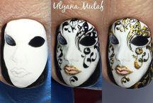 Mask nail art