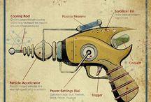 pistolet rayon laser vintage raygun