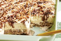 Desserts / Rice Crispy frozen Dessert / by Mary O'Malley