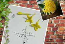 kvety háčkované
