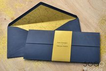 wedding cards - Gold and Blue / Sophisticated invitations for your amazing wedding day:)