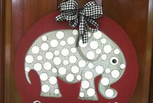 Roll tide / Hand painted on wood. Can be personalized / by Barbara McRae