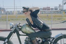 Biker broads / Motorcycles and ladies / by Clifford Maitlen