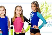 Swimwear for girls / Making UV protection a breeze!  Swim wear with UPF 50 protection.  #Beach fun | #girls swimwear | #safe play