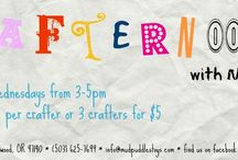 Crafternoons: Wednesdays 3-5pm, $2 per child / Join us every Wednesday for a crafty good time with Miss Eleni!