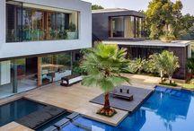 Piscinas y casas modernas