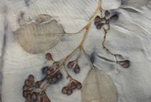 Eco-print/shibori/fabric manipulation