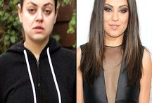Celebs with and without makeup  / Celebs with and without makeup