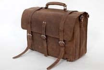 Distress Buffalo Leather Laptop Bag