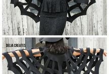 Holloween spider web cape / No sew spider web cape